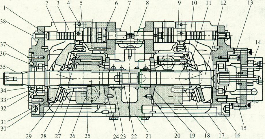 加藤挖掘机的液压泵结构图